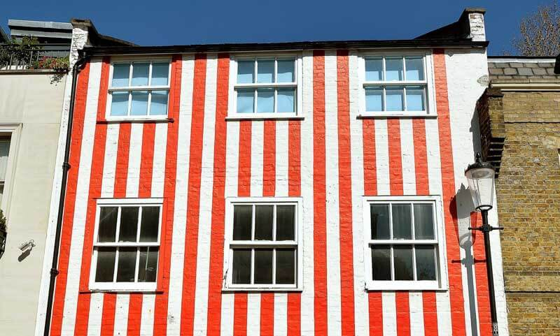 Demolition Work Begins On Famous Striped London House